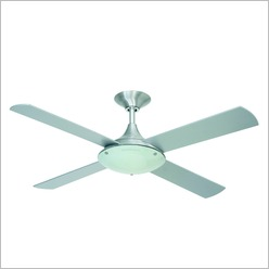 Hunter Pacific - Kinetic Ceiling Fan in Brushed Aluminium - Ceiling Fans