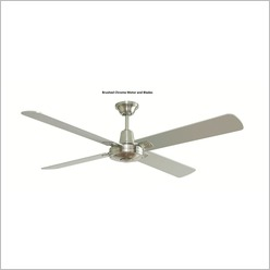 Hunter Pacific - Typhoon 132cm (52) Ceiling Fan with Timber Blades Motor Finish: Matt Black - Ceiling Fans