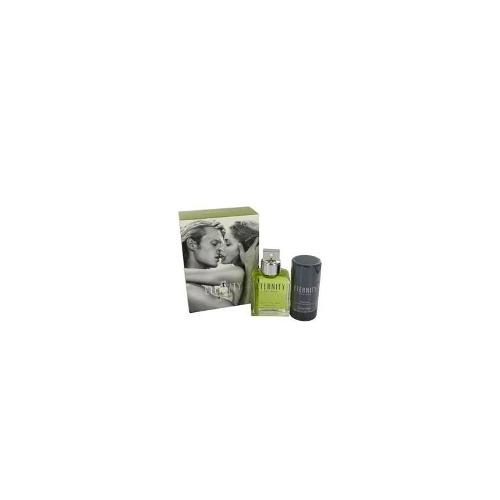 Eternity for Men by Calvin Klein, Gift Set - 3.4 oz Eau De Toilette Spray + 2.6 oz Deodorant Stick (Alcohol Free)