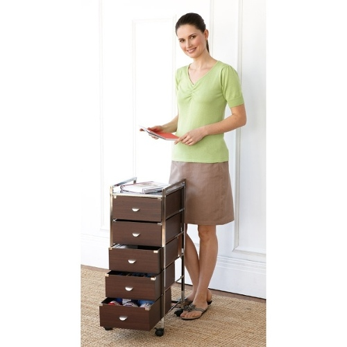 5 Tier Rolling Craft Trolley