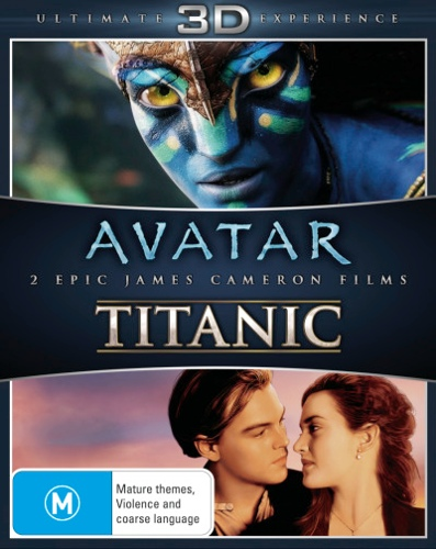 Avatar (3D Blu-ray) / Titanic (3D Blu-ray) (James Cameron) (3 Discs)