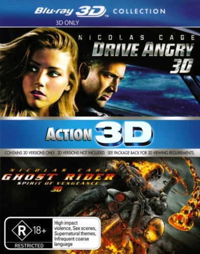 Drive Angry / Ghost Rider 2: Spirit of Vengeance (3D Blu-ray Double) (2 Discs)