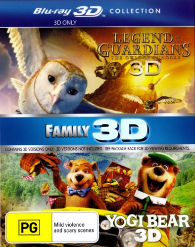 Legend of the Guardians: The Owls of Ga'hoole / Yogi Bear (2010) (3D Blu-ray Double) (2 Discs)
