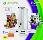 Xbox 360 4GB Kinect Value Console Bundle (Gloss White)