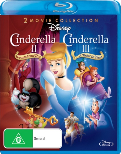 Cinderella II: Dreams Come True / Cinderella III: A Twist In Time (1 Disc)