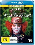 Alice In Wonderland (2010) (3D Blu-ray/Blu-ray)