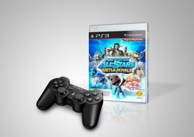 Dualshock 3 Controller Black with PlayStation All Stars Battle Royale