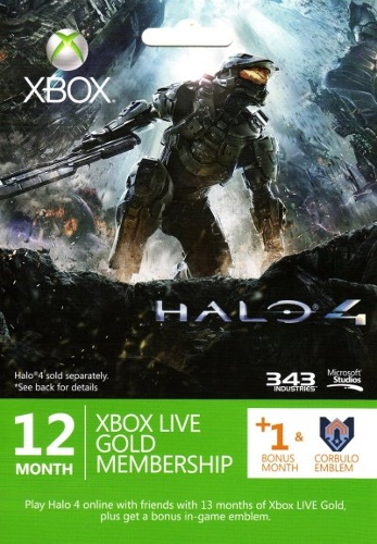 Halo 4 Xbox LIVE 12 Months Gold Subscription with 1 Bonus Month
