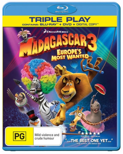 Madagascar 3: Europes Most Wanted (Blu-ray/DVD/Digital) (2 Discs)