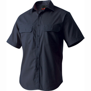 KingGee Tradie Short Sleeve Shirt Navy - Large
