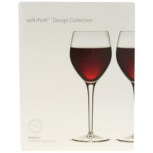 Bellissimo Red Wine Glasses x4 for Wiltshire Design Collection