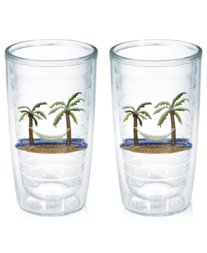 Tervis Tumblers Drinkware, Set of 2 Palm Tree and Hammock