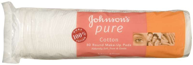 JOHNSON'S Pure Cotton Pads Make-Up Remover 80