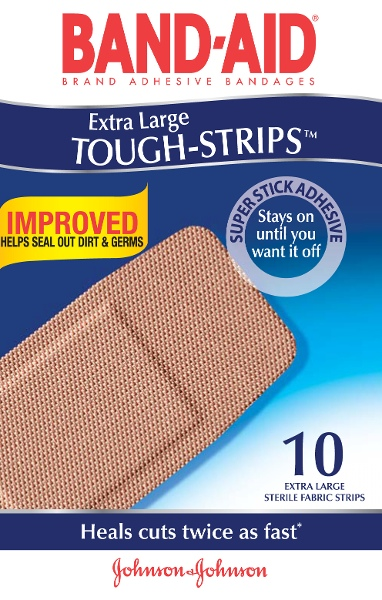 BAND-AID Brand Tough Strips Extra Large 10
