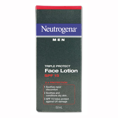 NEUTROGENA Men's Triple Protection Face Lotion SPF15 50mL