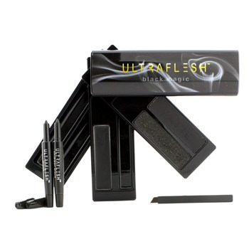 Fusion Beauty Ultraflesh Black Magic The Ultimate Jet Black Eyeliner Collection: 3x Black Liner, 2x Mini Pencil, 1x Mini Angled Liner - Make Up