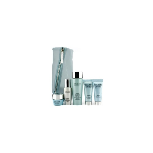 Estee Lauder CyberWhite Set: Spot Correcting Lotion + Essence + Cleanser + UV Protector SPF 50 + Brightening Moisture Creme + Bag - Skincare