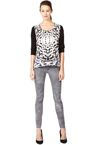 Printed Woven Front Top