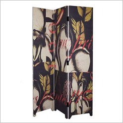 Pomp and Ceremony - Room Divider with Magnolia Printed Linen - Room Dividers