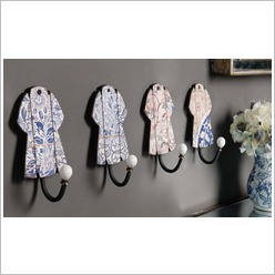 Phil Bee Interiors - Coat / Jacket Wall Art Hanger 20cm Height - Coat Racks & Umbrella Stands