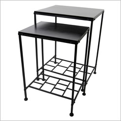 Madras Link - Antigua Table in Black (Set of 2) - Side/End Tables