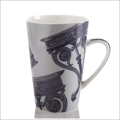 Pomp and Ceremony - Table V Mug in Navy and Grey - Plates, Bowls & Mugs