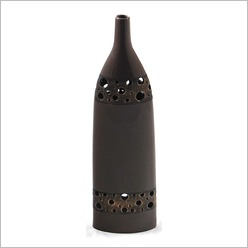 Mondo Gifts - Tall Vase with Metal Look Holes Size: 57cm H - Vases & Urns