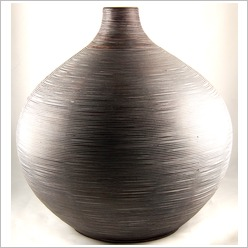 Mondo Gifts - Wooden and Woven Items Extra Large Bulbous Bamboo Vase - Vases & Urns