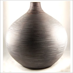 Mondo Gifts - Wooden and Woven Items Large Bulbous Bamboo Vase - Vases & Urns