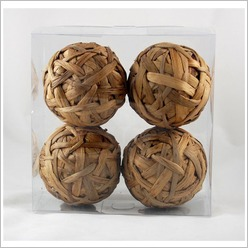 Mondo Gifts - Weaved Ball (Set of 4) - Accent Dinnerware Pieces