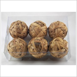 Mondo Gifts - Weaved Ball (Set of 6) - Accent Dinnerware Pieces