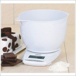 Propert - Digital Kitchen Scale and Bowl in White - Cooking Utensils