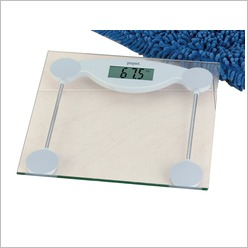 Propert - Glass Top LCD Bathroom Scale in Clear - Health & Beauty