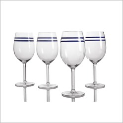 Pomp and Ceremony - Ocean Ink Acrylic Outdoor Wine Glass (Set of 8) - Glasses