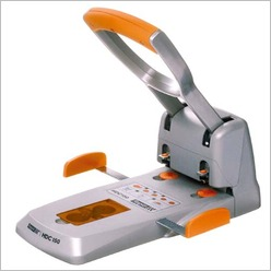 Rapid - Ergonomic Heavy Duty Punch in Silver/Orange - Office & Desk Accessories