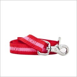 Rufus & Coco - Bronte Lead Colour: Red / Pink - Harnesses, Leads & Collars