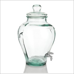 Stoneleigh & Roberson - Recycled Jar with Lid & Spout in Clear - Kitchen Containers, Jars & Canisters
