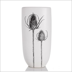 Stoneleigh & Roberson - 38cm Bunny Tail Grass Vase in White (Set of 2) - Vases & Urns