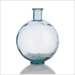 Stoneleigh & Roberson - 44cm Recycled Glass Vase Colour: Clear - Vases & Urns
