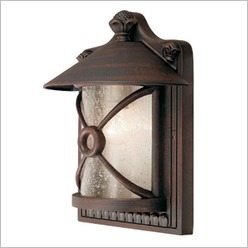 Smarlux - Chill Aluminium Outdoor Wall Lamp in Rustic Brown - Exterior Lighting
