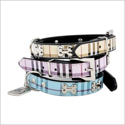 Rufus & Coco - Peppermint Grove Dog Collar Size: Large (62cm), Colour: Blue - Harnesses, Leads & Collars