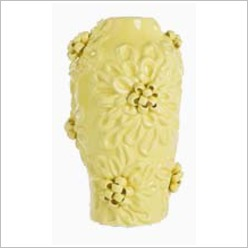 Stoneleigh & Roberson - Ceramic Textured Flower Vase Size: Large, Colour: Yellow - Vases & Urns