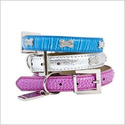 Rufus & Coco - St Kilda Dog Collar Size: 52cm, Colour: Blue - Harnesses, Leads & Collars