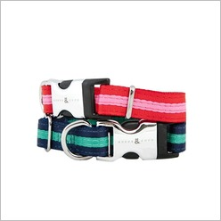 Rufus & Coco - Bronte Dog Collar Size: Small - Medium, Colour: Navy / Green - Harnesses, Leads & Collars