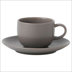 Royal Doulton - Mode Tableware Cup and Saucer in Espresso - Plates, Bowls & Mugs