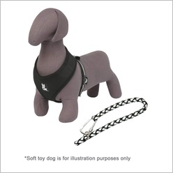 Rufus & Coco - Soft Mesh Harness and Parking Lead Size: Medium, Colour: Pink - Harnesses, Leads & Collars