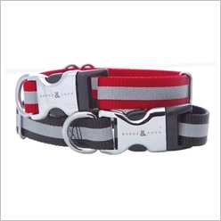 Rufus & Coco - Kings Cross Dog Collar Size: Small - Medium, Colour: Black - Harnesses, Leads & Collars