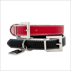 Rufus & Coco - Paddington Dog Collar Size: Large ( 62cm), Colour: Red - Harnesses, Leads & Collars