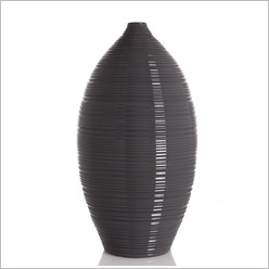 Stoneleigh & Roberson - Narrow Necked Vase with Horizontal Groove Size: 38cm - Vases & Urns