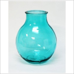 Stoneleigh & Roberson - Recycled Bulbous Vase Colour: Teal - Vases & Urns